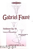 Okładka: Fauré Gabriel, Sicilienne for Violin and Piano, Op. 78