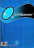 Okładka: Skowron Zbigniew, Przegląd Muzykologiczny 6/2006