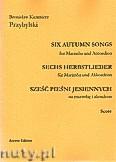 Okładka: Przybylski Bronisław Kazimierz, Sześć pieśni jesiennych na marimbę i akordeon (partytura + głosy)