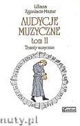 Okładka: Zganiacz-Mazur Liliana, Audycja muzyczne tom II.Tematy muzyczne