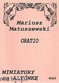 Okładka: Matuszewski Mariusz, Oratio