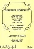 Okładka: Miśkiewicz Grzegorz, 4 pieśni na głos i fortepian. Tekst na podstawie Boskiej komedii A. Dantego