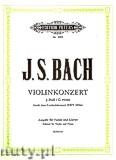Ok�adka: Bach Johann Sebastian, Konzert f�r Violine, Streicher und Basso continuo g-moll nach dem Cembalokonzert f-Moll BWV 1056