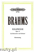 Ok�adka: Brahms Johannes, Rhapsody Op. 53 for Alt Solo, Men's Choir and Piano