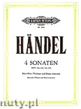 Okładka: Händel George Friedrich, Four Sonatas HWV 360, 362, 365, 369 for Recorder (Violin) and Basso Continuo