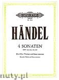 Okładka: Händel George Friedrich, Four Sonatas HWV 360, 362, 365, 369 for Recorder (Violin) and Basso Continuo