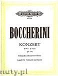 Okładka: Boccherini Luigi, Konzert für Violoncello und Kammerorchester D-Dur GV 476 (Ausgabe für Violoncello und Klavier)