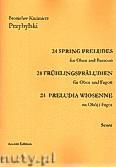 Okładka: Przybylski Bronisław Kazimierz, 24 Preludia wiosenne na obój i fagot