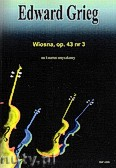 Okładka: Grieg Edward, Wiosna, op. 43 nr 3, na kwartet smyczkowy, partytura + głosy