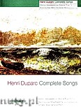 Okładka: Duparc Henri, Complete Songs for Medium - Low Voice and Piano