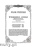 Ok�adka: Peeters Flor, Wedding Song for High Voice and Organ or Piano