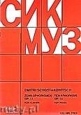 Okładka: Szostakowicz Dymitr, Zehn Aphorismen, Op. 13 für Klavier