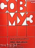 Ok�adka: Szostakowicz Dymitr, Five Preludes for Piano