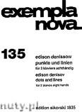 Okładka: Denisow Edison, Punkte Und Linien für 2 klaviere achthändig
