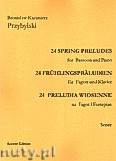 Okładka: Przybylski Bronisław Kazimierz, 24 Preludia wiosenne na fagot i fortepian (partytura + głosy)