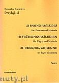 Okładka: Przybylski Bronisław Kazimierz, 24 Preludia wiosenne na fagot i marimbę (partytura + głosy)