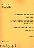 Okładka: Przybylski Bronisław Kazimierz, 24 Preludia wiosenne na 2 altówki (partytura + głosy)