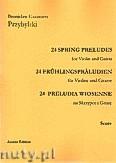 Okładka: Przybylski Bronisław Kazimierz, 24 Preludia wiosenne na skrzypce i gitarę (partytura + głosy)