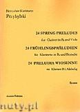 Okładka: Przybylski Bronisław Kazimierz, 24 Preludia wiosenne na klarnet B i altówkę (partytura + głosy)