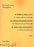 Okładka: Przybylski Bronisław Kazimierz, 24 Preludia wiosenne na klarnet B i wiolonczelę (partytura + głosy)