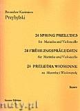 Okładka: Przybylski Bronisław Kazimierz, 24 Preludia wiosenne na marimbę i wiolonczelę (partytura + głosy)