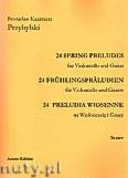 Ok�adka: Przybylski Bronis�aw Kazimierz, 24 Preludia wiosenne na wiolonczel� i gitar� (partytura + g�osy)