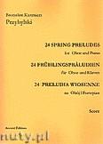 Okładka: Przybylski Bronisław Kazimierz, 24 Preludia wiosenne na obój i fortepian (partytura + głosy)
