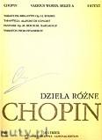 Okładka: Chopin Fryderyk, Dzieła różne na fortepian. Seria A, utwory wydane za życia kompozytora, tom XII