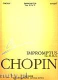 Okładka: Chopin Fryderyk, Impromptus op. 29, 36, 51. Seria A, utwory wydane za życia kompozytora, tom III