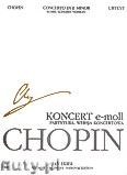 Okładka: Chopin Fryderyk, Koncert e-moll op. 11 (partytura), wersja koncertowa. Seria B, utwory wydane pośmiertnie, tom VIIIa