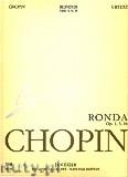 Okładka: Chopin Fryderyk, Ronda op. 1, 5, 16. Seria A, utwory wydane za życia kompozytora, tom VIII