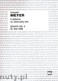 Okładka: Meyer Krzysztof, II Sonata na wiolonczelę solo