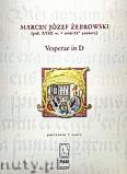 Ok�adka: �ebrowski Marcin J�zef, Vesperae in D (partytura)