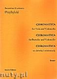 Ok�adka: Przybylski Bronis�aw Kazimierz, Chromatica na alt�wk� i wiolonczel� (partytura + g�osy, ca 2')