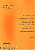 Okładka: Przybylski Bronisław Kazimierz, Chromatica na marimbę i kontrabas (partytura + głosy, ca 2')