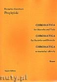 Ok�adka: Przybylski Bronis�aw Kazimierz, Chromatica na marimb� i alt�wk� (partytura + g�osy, ca 2')