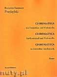 Okładka: Przybylski Bronisław Kazimierz, Chromatica na kontrabas i wiolonczelę (partytura + głosy, ca 2')
