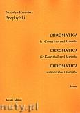 Okładka: Przybylski Bronisław Kazimierz, Chromatica na kontrabas i marimbę (partytura + głosy, ca 2')