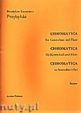 Okładka: Przybylski Bronisław Kazimierz, Chromatica na kontrabas i flet (partytura + głosy, ca 2')