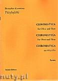 Okładka: Przybylski Bronisław Kazimierz, Chromatica na obój i flet (partytura + głosy, ca 2')