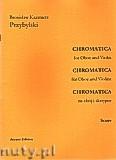 Ok�adka: Przybylski Bronis�aw Kazimierz, Chromatica na ob�j i skrzypce (partytura + g�osy, ca 2')
