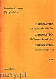 Ok�adka: Przybylski Bronis�aw Kazimierz, Chromatica na wiolonczel� i ob�j (partytura + g�osy, ca 2')
