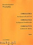 Ok�adka: Przybylski Bronis�aw Kazimierz, Chromatica klarnet B i alt�wk� (partytura + g�osy, ca 2')