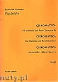 Okładka: Przybylski Bronisław Kazimierz, Chromatica na marimbę i klarnet basowy (partytura + głosy, ca 2')
