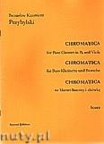 Ok�adka: Przybylski Bronis�aw Kazimierz, Chromatica na klarnet basowy i alt�wk� (partytura + g�osy, ca 2')