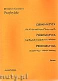 Ok�adka: Przybylski Bronis�aw Kazimierz, Chromatica na alt�wk� i klarnet basowy (partytura + g�osy, ca 2')