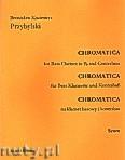 Okładka: Przybylski Bronisław Kazimierz, Chromatica na klarnet basowy i kontrabas (partytura + głosy, ca 2')