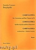Okładka: Przybylski Bronisław Kazimierz, Chromatica na kontrabas i klarnet basowy (partytura + głosy, ca 2')