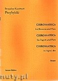 Ok�adka: Przybylski Bronis�aw Kazimierz, Chromatica na fagot i flet (partytura + g�osy, ca 2')