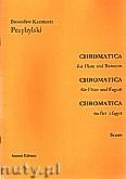 Ok�adka: Przybylski Bronis�aw Kazimierz, Chromatica na flet i fagot (partytura + g�osy, ca 2')